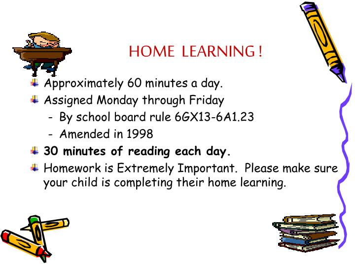 HOME  LEARNING !