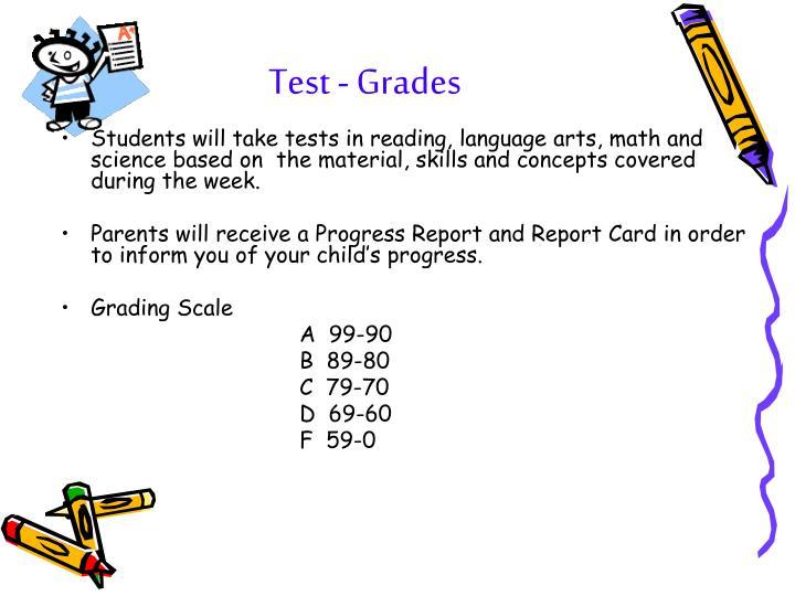 Test - Grades