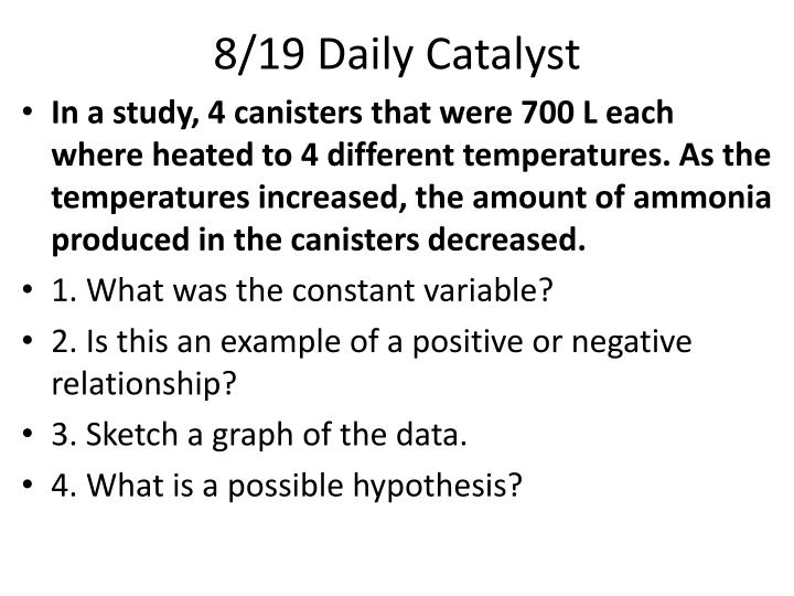 8 19 daily catalyst n.