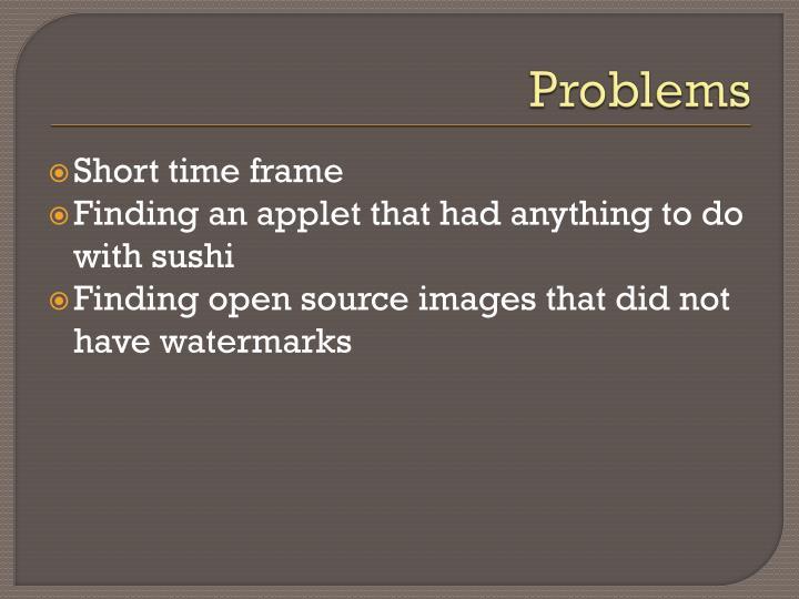 Problems