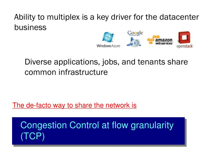 Ability to multiplex is a key driver for the datacenter business