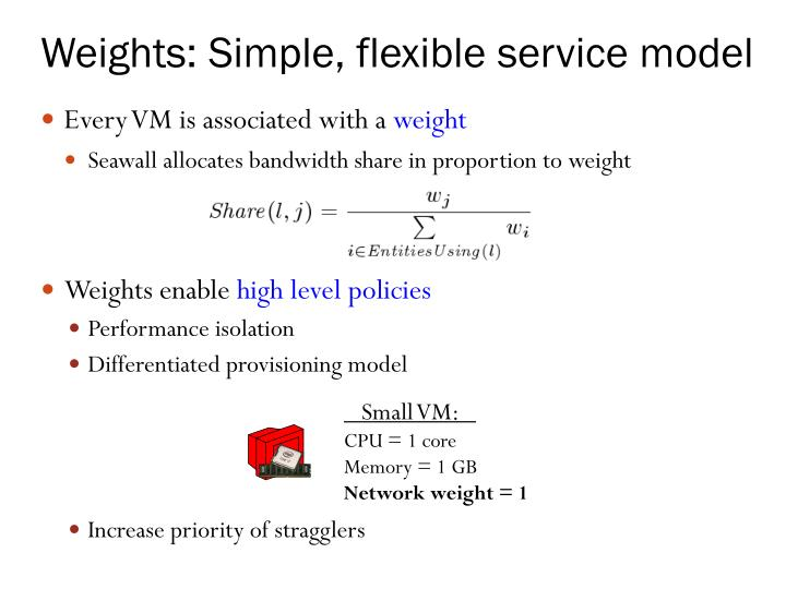 Weights: Simple, flexible service model