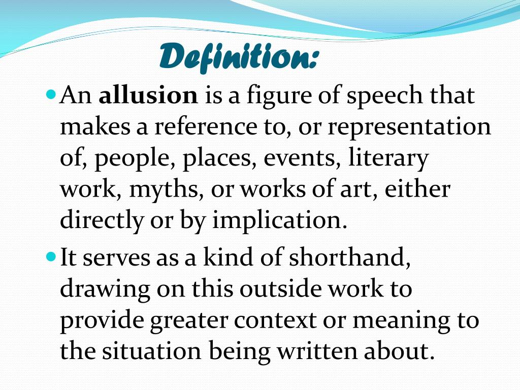 PPT - ALLUSIONS PowerPoint Presentation - ID:2454877
