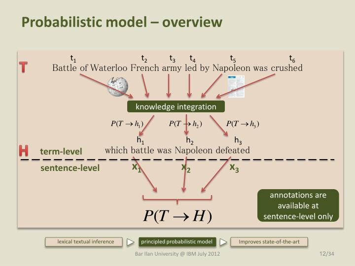 Probabilistic model – overview