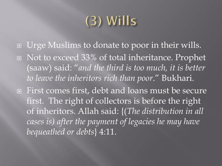 (3) Wills
