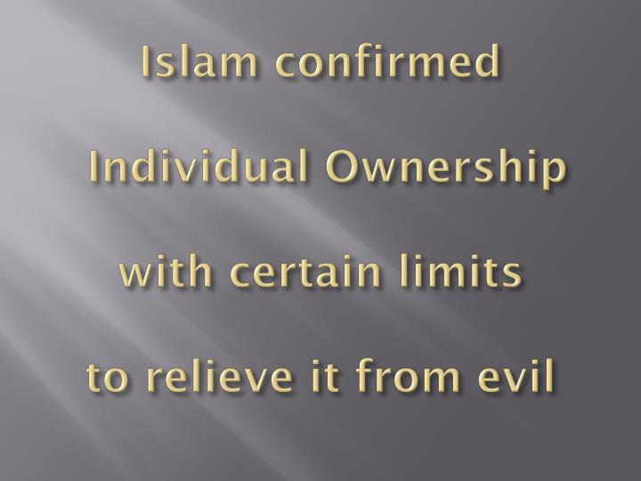 Islam confirmed