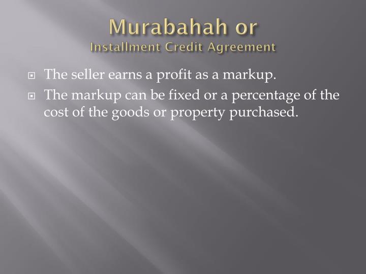 Murabahah