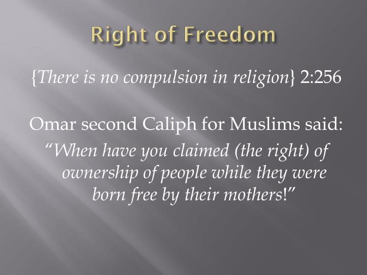 Right of Freedom