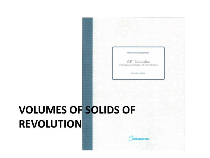 volumes of solids of revolution n.