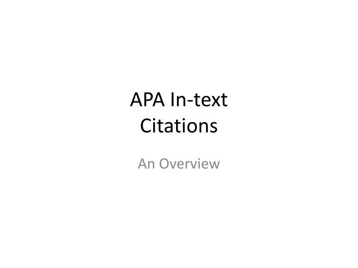 apa in text citations n.