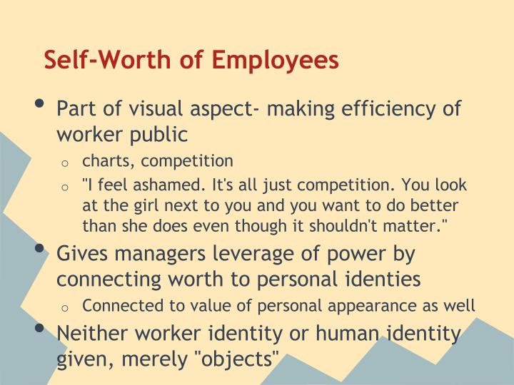 Self-Worth of Employees