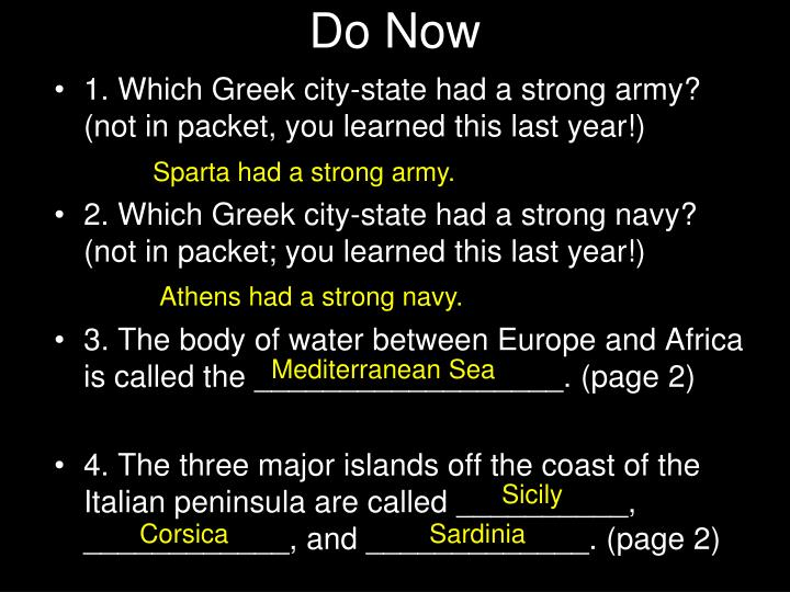 Ppt do now powerpoint presentation id2455194 which greek city state had a strong army not in packet you learned this last year toneelgroepblik Image collections