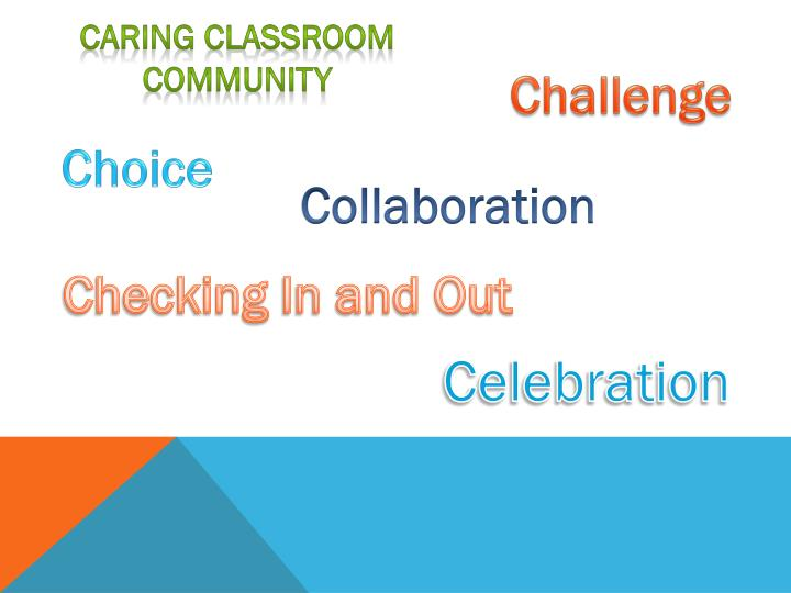 Caring Classroom Community