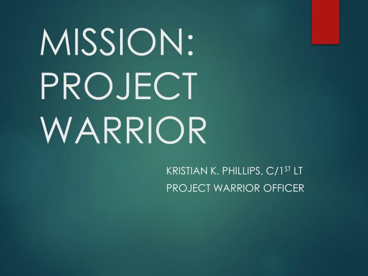 mission project warrior n.
