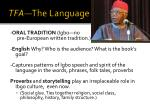 tfa the language