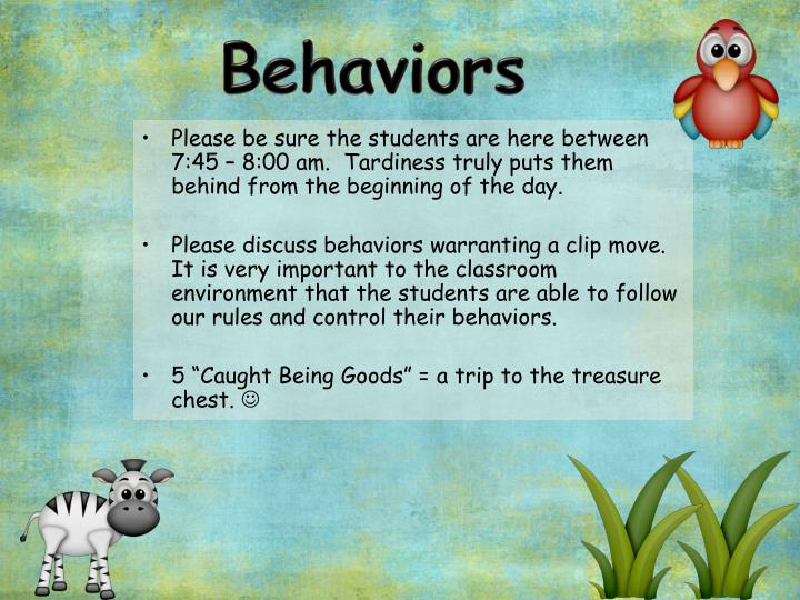 Behaviors