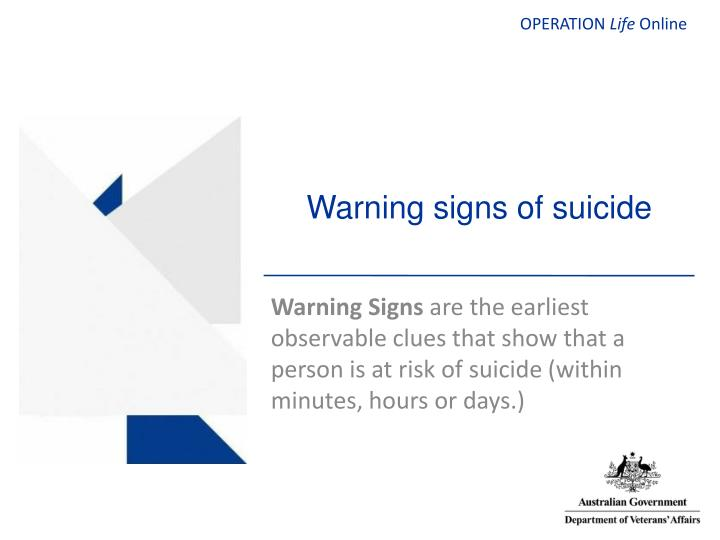 warning signs of suicide n.