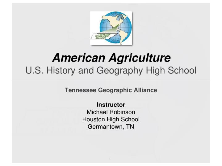 american agriculture u s history and geography high school n.