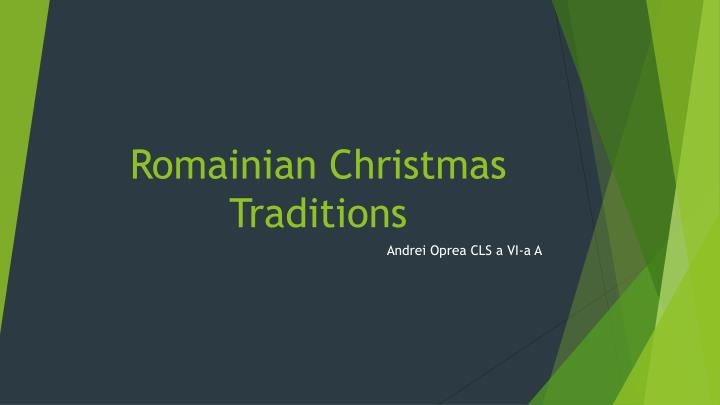 romainian christmas traditions n.