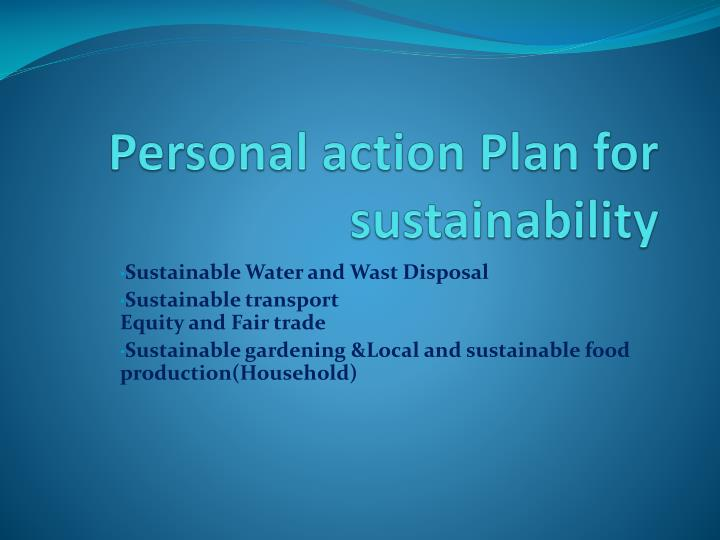 personal action plan for sustainability n.