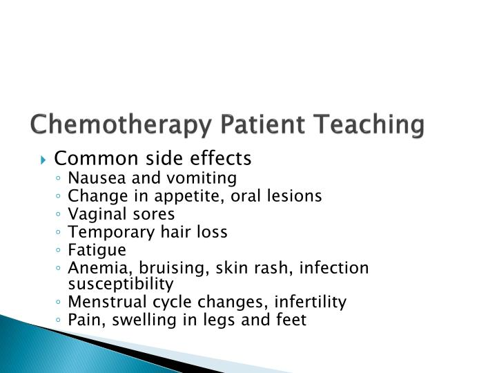 Chemotherapy Patient Teaching