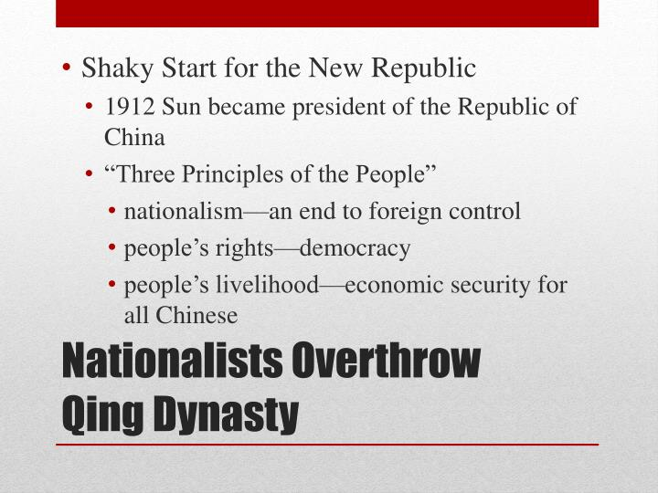 Nationalists overthrow qing dynasty1
