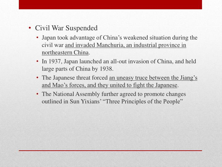 Civil War Suspended