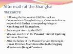 aftermath of the shanghai massacre