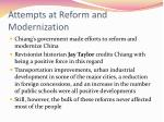 attempts at reform and modernization