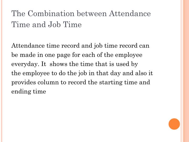 The Combination between Attendance