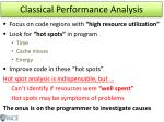 classical performance analysis