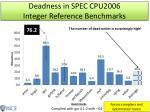 deadness in spec cpu2006 integer reference benchmarks