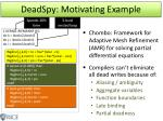 deadspy motivating e xample