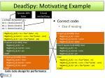 deadspy motivating e xample1