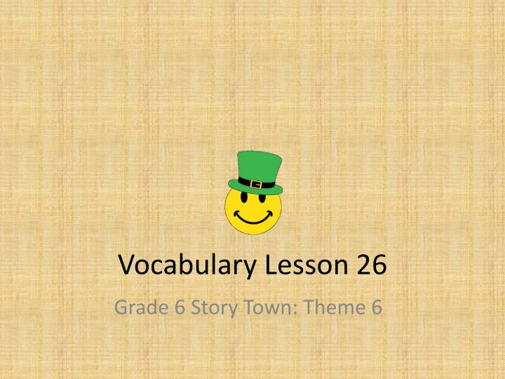vocabulary lesson 26 n.