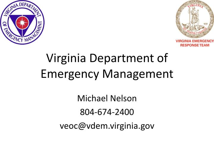 Virginia Department of Emergency Management
