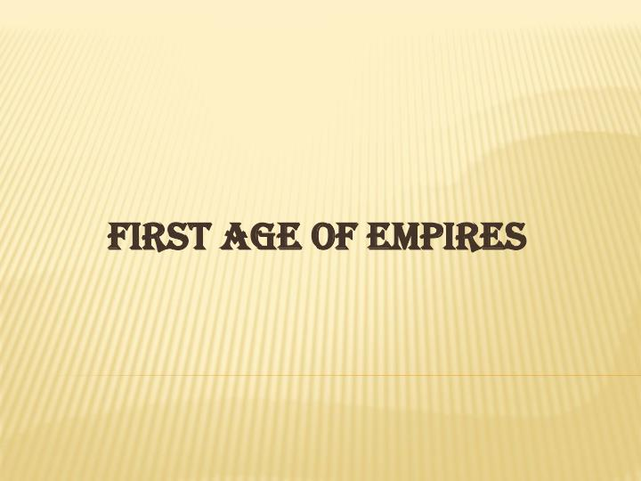 first age of empires n.