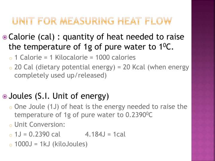 Unit for Measuring Heat Flow