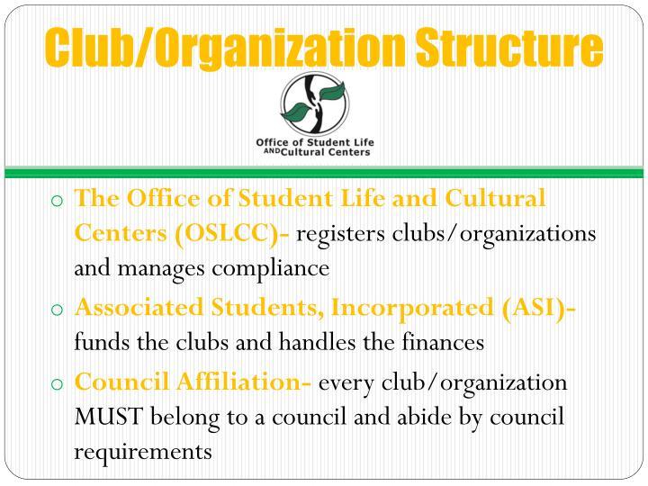 Club organization structure