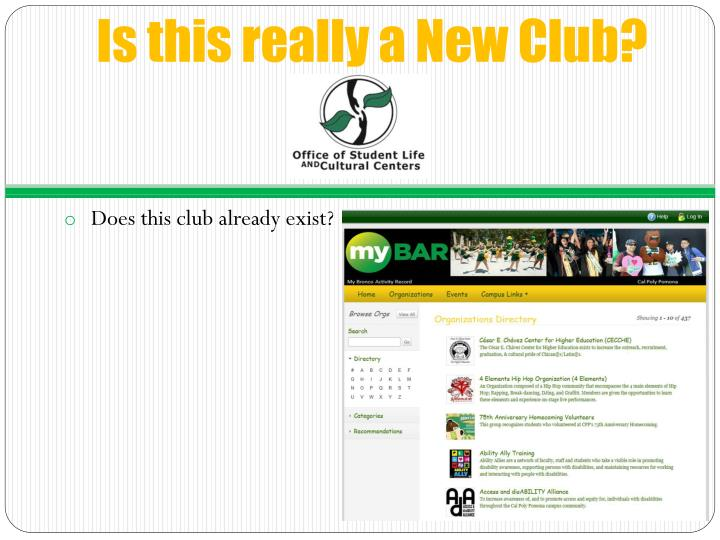 Is this really a New Club?