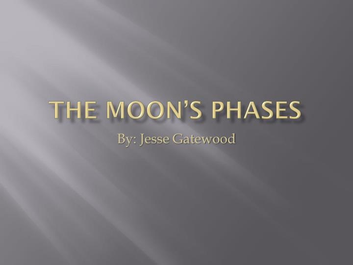 the moon s phases n.