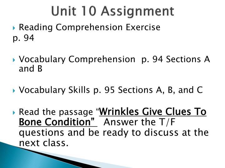 Unit 10 Assignment