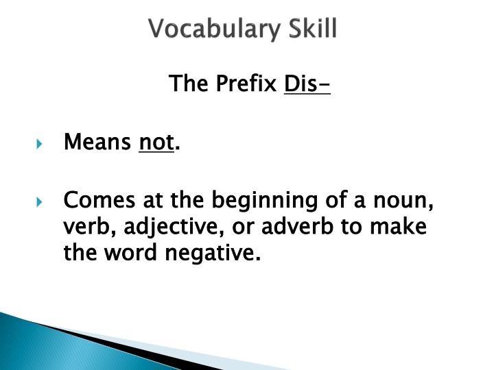 Vocabulary Skill