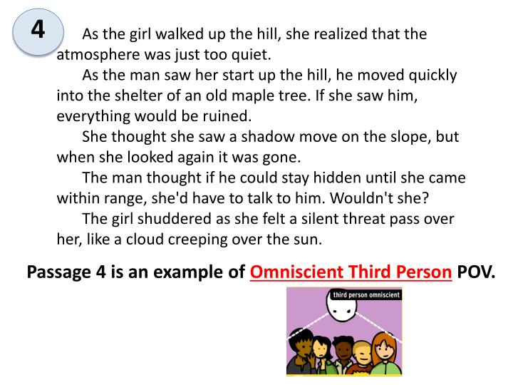 As the girl walked up the hill, she realized that the atmosphere was just too quiet.