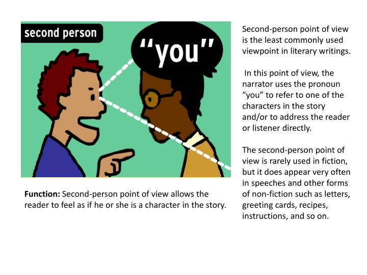 Second-person point of view is the least commonly used
