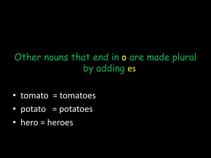 Other nouns