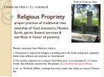 religious propriety