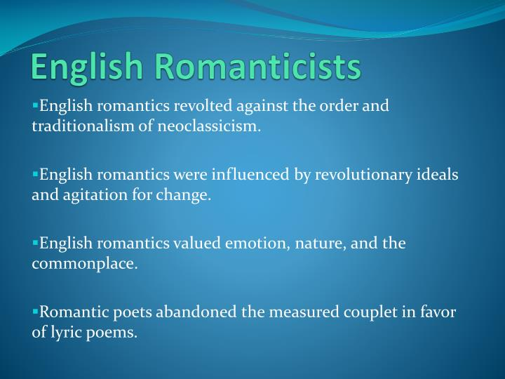 English Romanticists