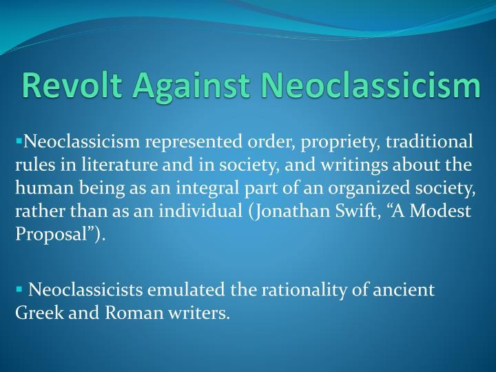 Revolt Against Neoclassicism