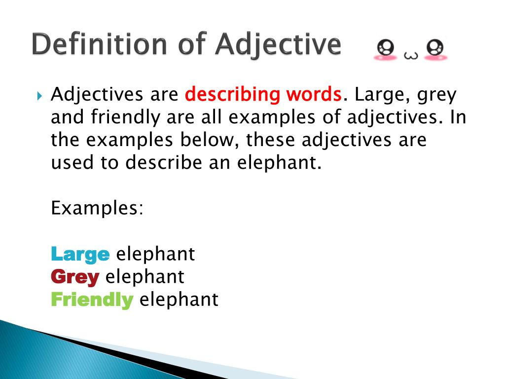 PPT - ADJECTIVE PowerPoint Presentation, free download - ID ...